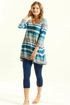STRIPE SCOOP HEM TUNIC