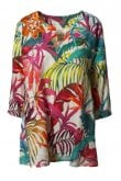 OUT OF XILE KAFTAN FLORAL LINEN TUNIC