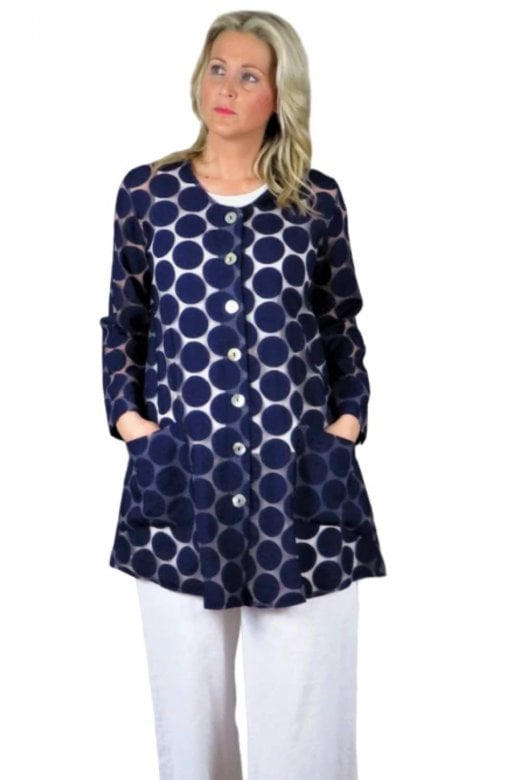 OUT OF XILE SHEER CIRCLE SPOT TUNIC JACKET