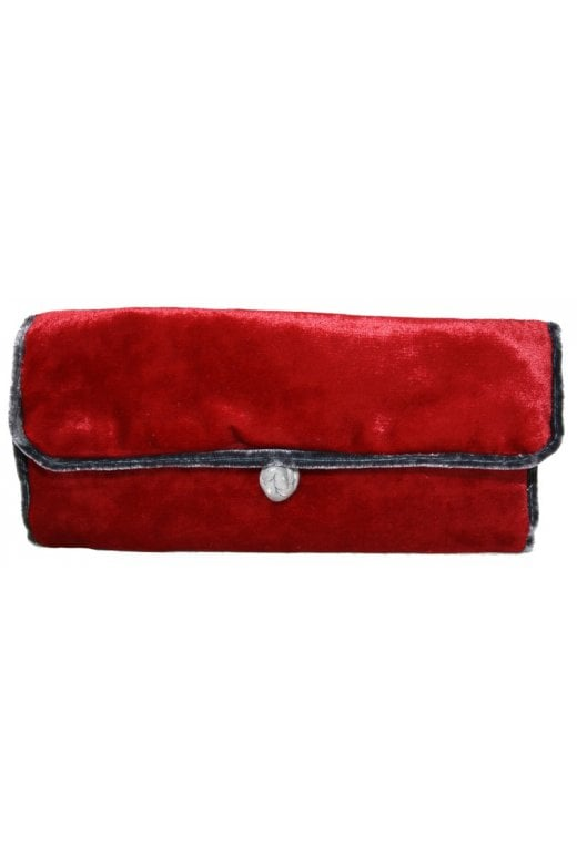LUA PLAIN VELVET JEWELLERY ROLL
