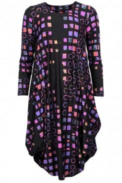 BLACK GEO UTAS DRESS