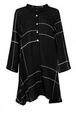 KAMAL  BLACK  CHECK DRESS