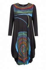 MULTI COLOURED SPIRAL UTAS DRESS