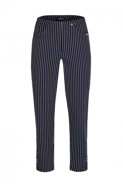 Robell Trousers BELLA SEERSUCKER STRIPE TROUSER