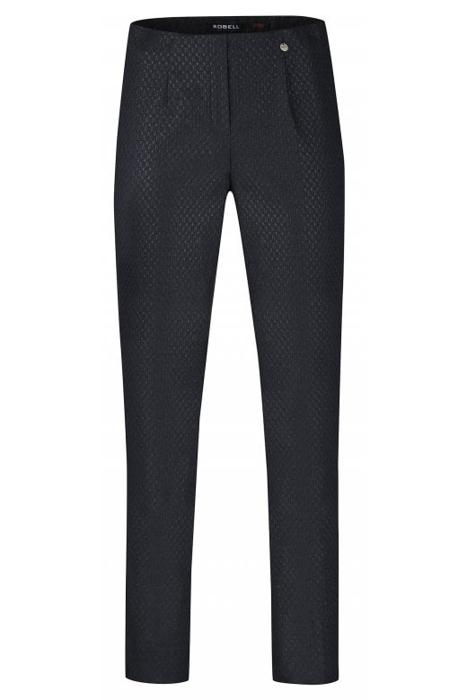 Robell Trousers MARIE HONEYCOMB TEXTURED TROUSER