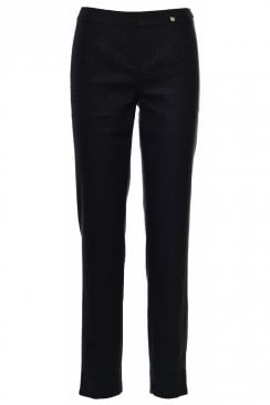 MARIE HONEYCOMB TEXTURED TROUSER