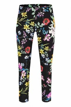 ROSE BLACK FLORAL TROUSER