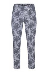 ROSE FLORAL STRIPE TROUSER