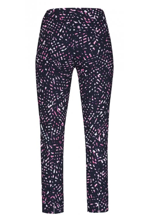 Robell Trousers SPECKLED PRINTED ROSE TROUSER