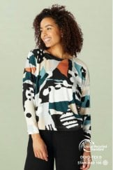 ABSTRACT JERSEY EASY TOP