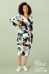 ABSTRACT PRINT BUBBLE DRESS