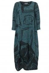 ABSTRACT PRINT TWEED DRESS