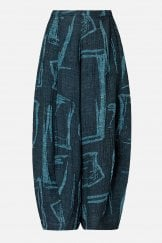 ABSTRACT PRINT TWEED TROUSER