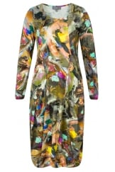 ARTIST CANVAS PANEL DRESS