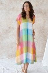 ARTIST PALLETTE LINEN DRESS