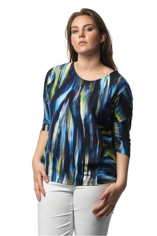 Sahara Clothing ARTISTIC PRINT JERSEY TOP
