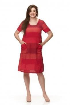 BOLD LINEN STRIPE DRESS