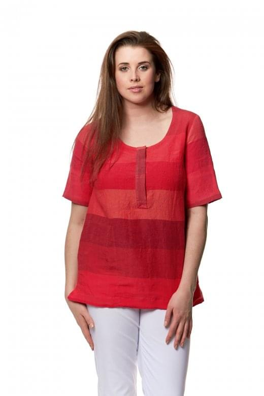 Sahara Clothing BOLD LINEN STRIPE TOP