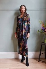 COLOURFUL SPOT JERSEY DRESS