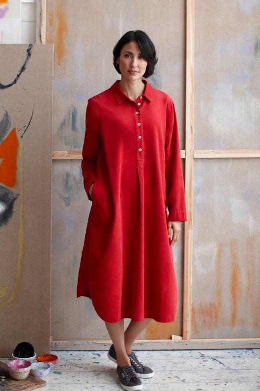Sahara Clothing COTTON BABY CORD SHIRT DRESS