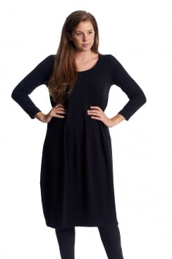 CREPE JERSEY ASSTMMETRIC DRESS