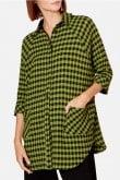 Sahara Clothing CRINKLE GINGHAM SHIRT