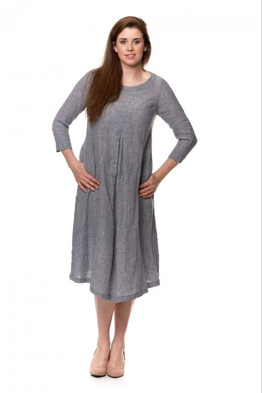 Sahara Clothing CRINKLE LINEN PLEAT DRESS