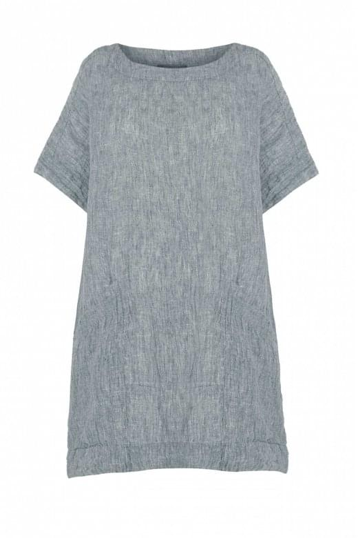 Sahara Clothing CRINKLE LINEN POCKET TUNIC