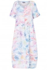 DAPPLE LINEN PRINT DRESS