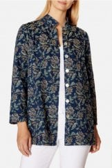 DENIM FLORAL JAQUARD JACKET