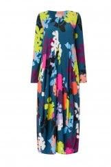 FLORAL STENCIL PRINT DRESS