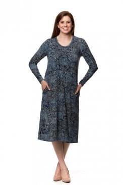 KUMO PRINT JERSEY PANEL DRESS
