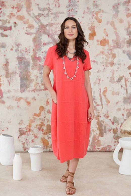 Sahara Clothing LINEN PANELLED DRESS