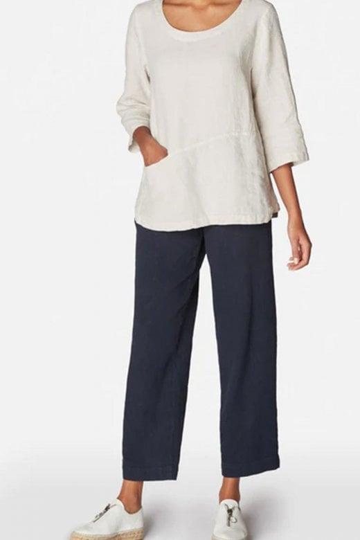 Sahara Clothing LINEN STEP HEM TOP