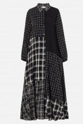 MONO PATCH CHECK SHIRT DRESS