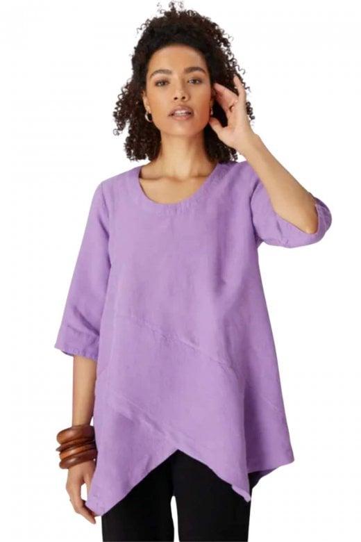 Sahara Clothing ORGANZA LINEN ASYMMETRIC TOP