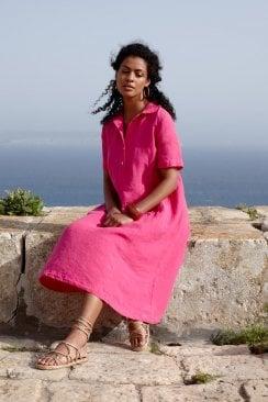 ORGANZA LINEN SHIRT DRESS