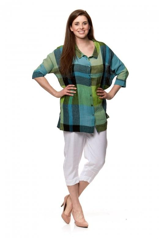 Sahara Clothing OVERSIZED CHECK SHIRT