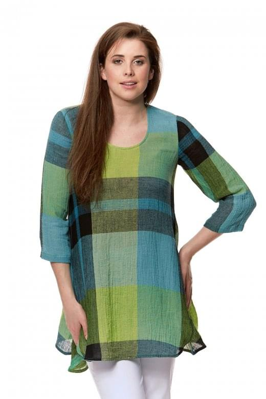 Sahara Clothing OVERSIZED CHECK TUNIC