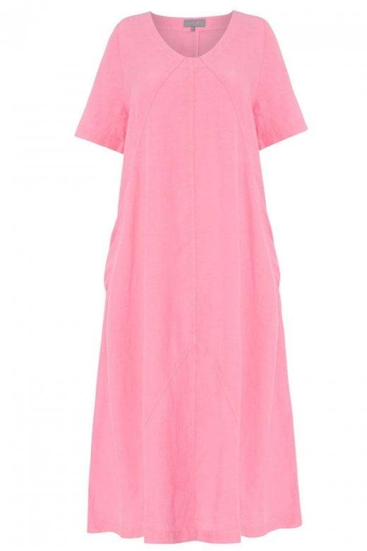 Sahara Clothing PANELLED A LINE LINEN DRESS
