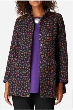 POLKA DOT JACQUARD JACKET