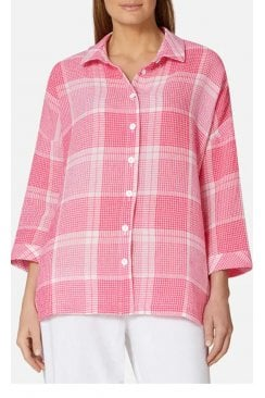 SEESUCKER GRID CHECK SHIRT