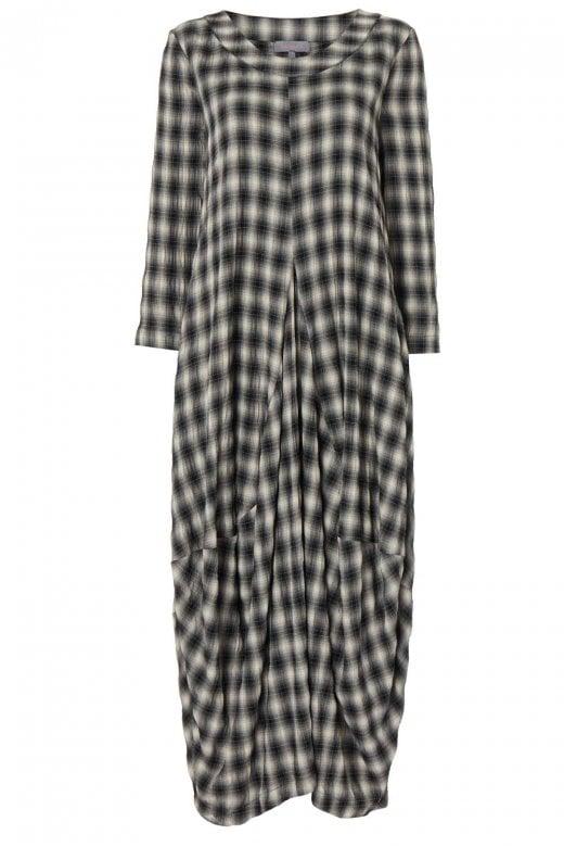Sahara Clothing SHADOW CHECK BUBBLE DRESS