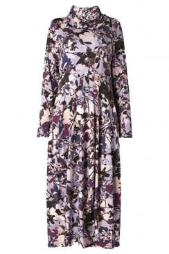 SHADOW FLOWER PRINT DRESS