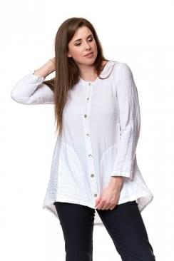 SHIMMER LINEN POCKET SHIRT
