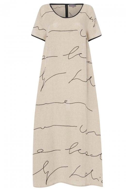 Sahara Clothing SIGNATURE LINEN PRINT DRESS
