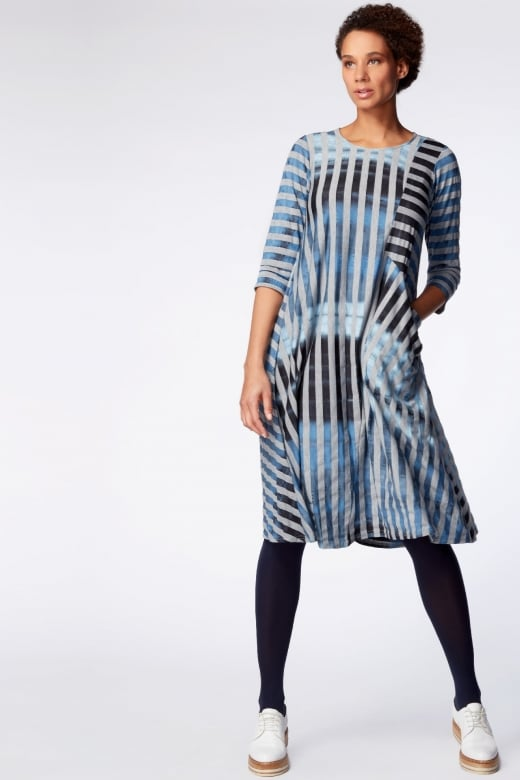 Sahara Clothing SKY STRIPE JERSEY PANEL DRESS
