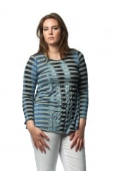 SKY STRIPED JERSEY TOP