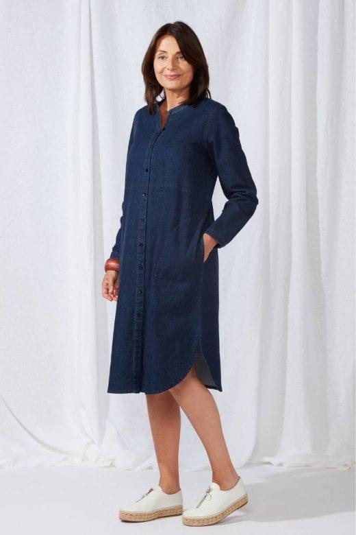 Sahara Clothing STRETCH DENIM SHIRT DRESS