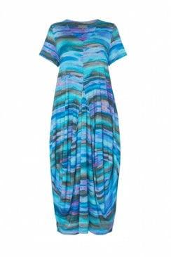 SUNSET JERSEY BUBBLE DRESS